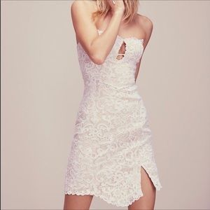 FREE PEOPLE Catalina Bodycon Strapless Lace Dress